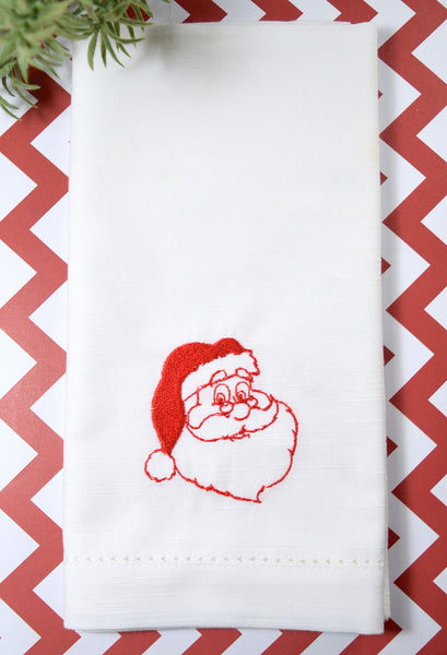 Santa Claus Christmas Cloth Napkins - Set of 4 napkins