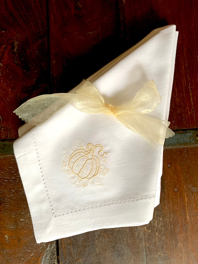 Pumpkin Swirl Cloth Napkins - Set of 4 napkins