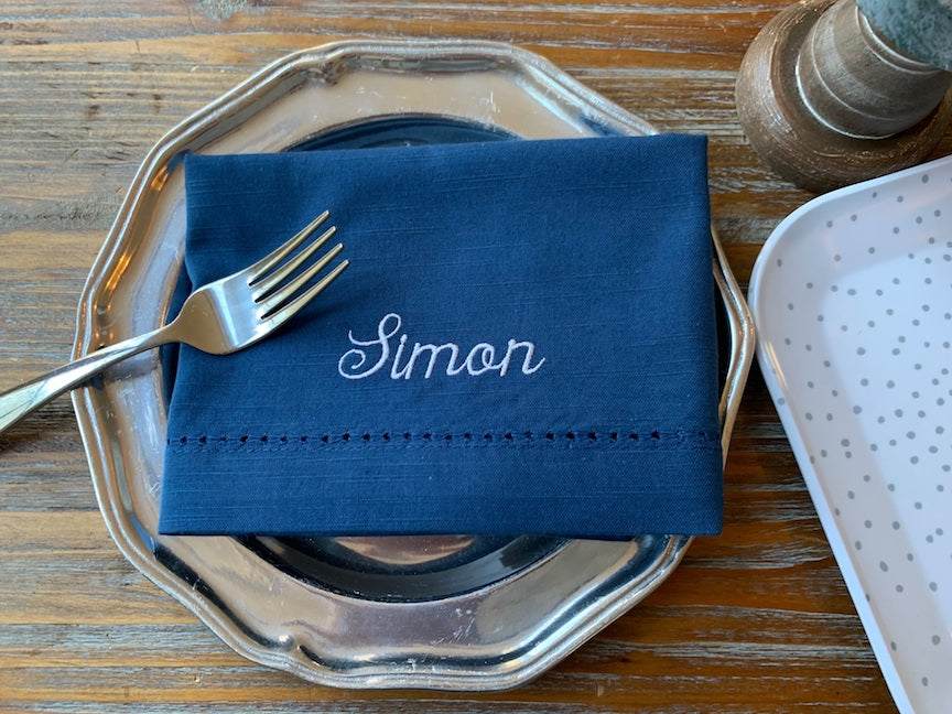 Personalized Wedding Party Monogrammed Name Napkins, Set of 6 names napkins