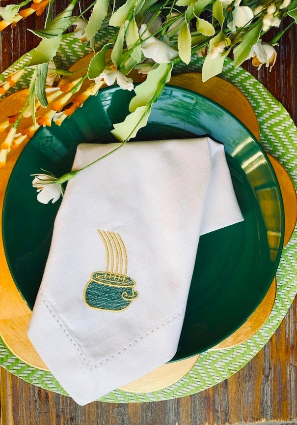 Pot of Gold St. Patrick's Day Cloth Napkins - Set of 4 napkins