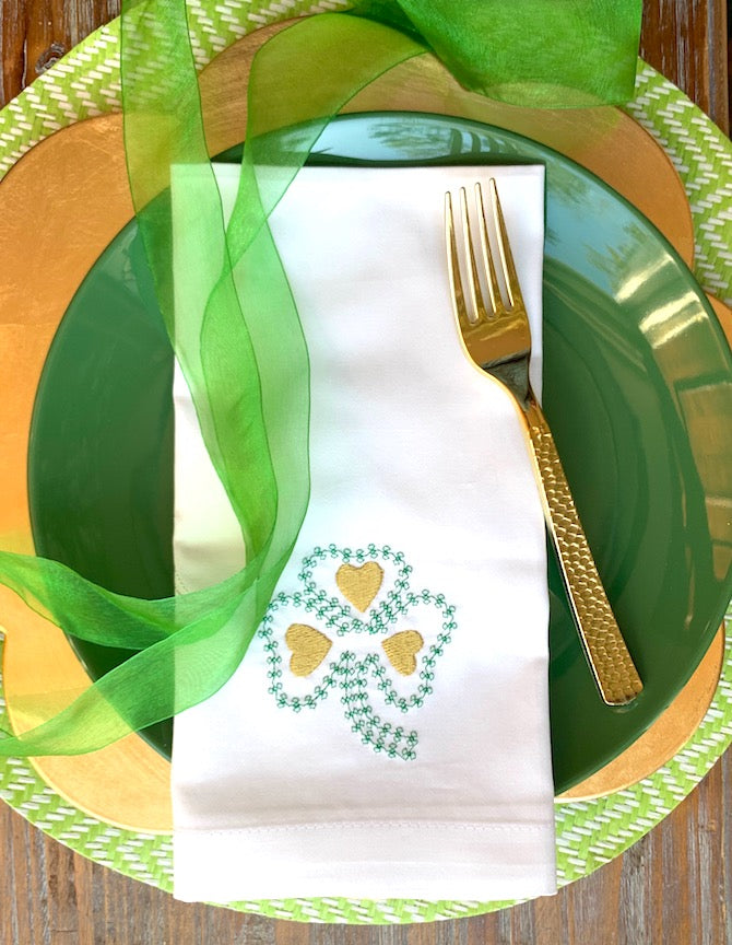 Shamrock St. Patrick's Day Napkins - Set of 4 napkins