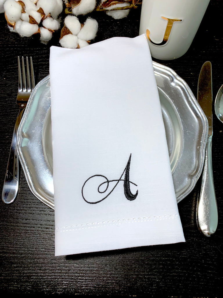 Rosato Monogrammed Cloth Dinner Napkins - Set of 4 napkins