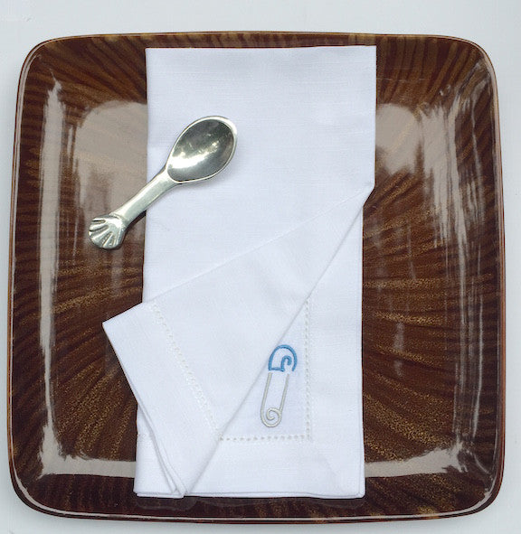 Baby Gender Reveal Cloth Napkins - Set of 4 napkins