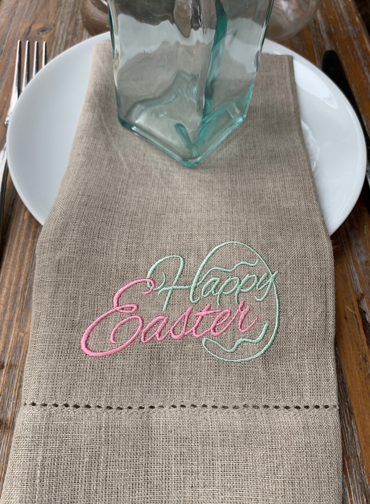 Happy Easter Cloth Napkins - Set of 4 napkins