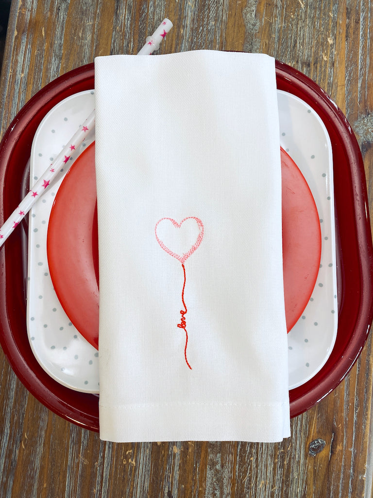 Balloon Love Heart Valentine's Day Cloth Napkins