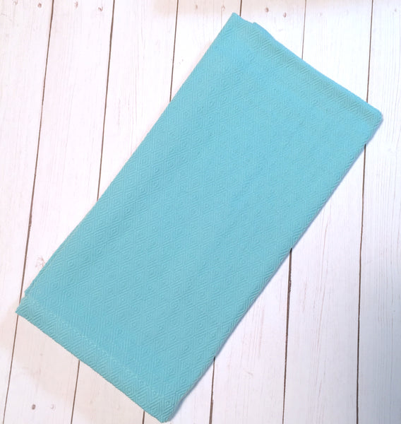 Sky Blue Textured Cloth Napkins - Set of 4 cotton napkins