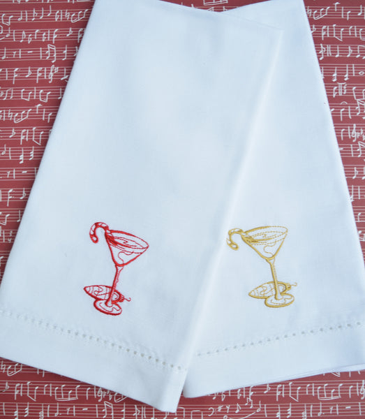 Christmas Drink Cloth Napkins - Set of 4 Christmas napkins