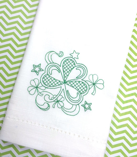 clover cloth napkins, st. patrick's day clover napkins, st. patrick's day cloth napkins