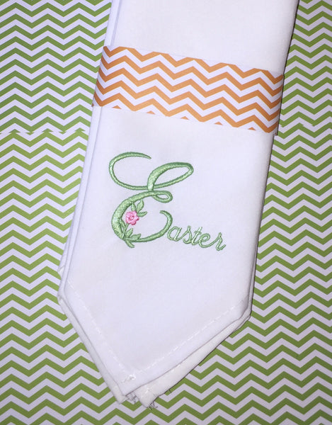 Easter Script Cloth Napkins, Easter Cloth napkins, Easter font cloth dinner napkins