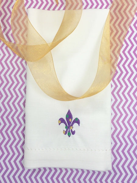 Mardi Gras Fleur De Lis Cloth Napkins - Set of 4 napkins