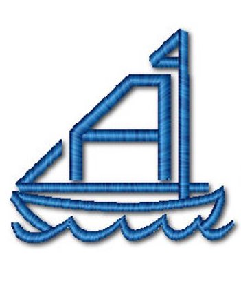 Custom order - Sailboat - White Tulip Embroidery