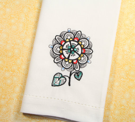 colorful flower coth napkins, bright flower cloth napkins