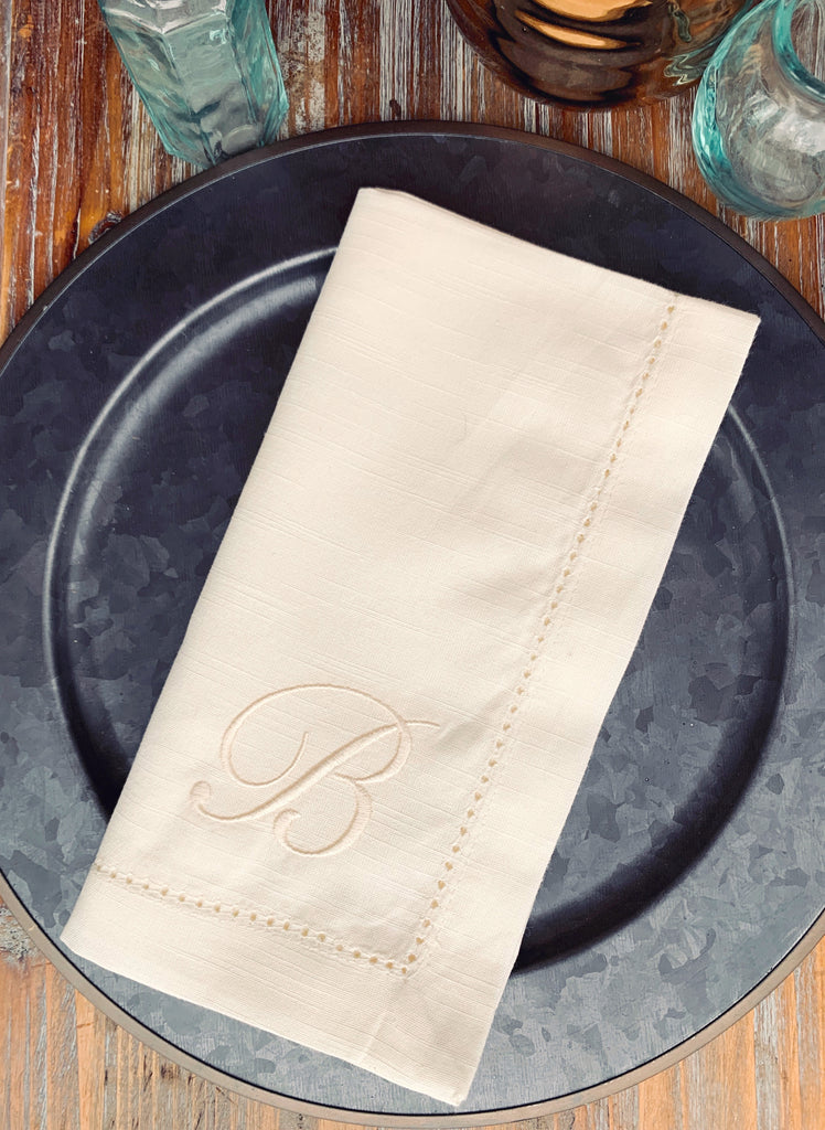 Sophia Monogrammed Embroidered Cloth Napkins