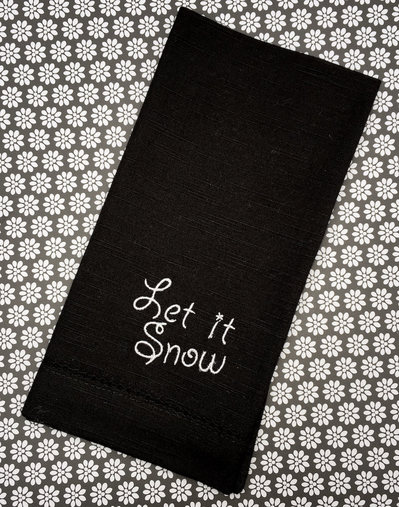 Let It Snow Cloth Napkins - Set of 4 Christmas napkins