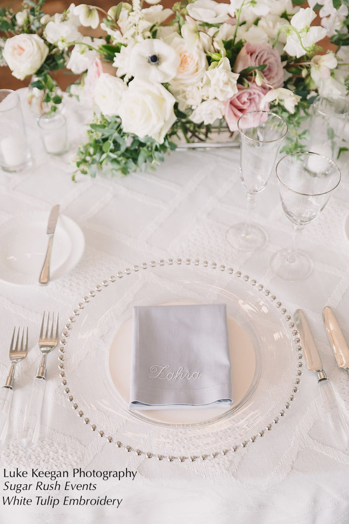 100 Personalized Wedding Party Monogrammed Name Napkins, Bulk names napkins