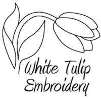 White Tulip Embroidery