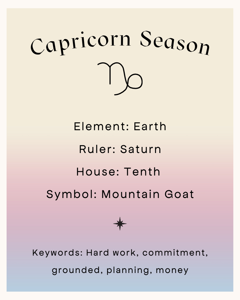 CAPRICORN SEASON IS HERE!