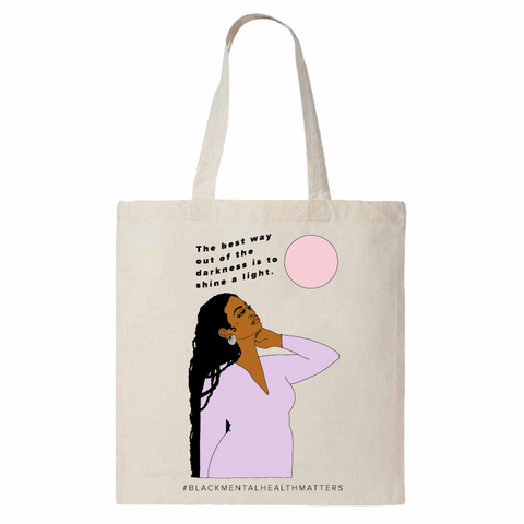Canvas Tote with Image and Quote