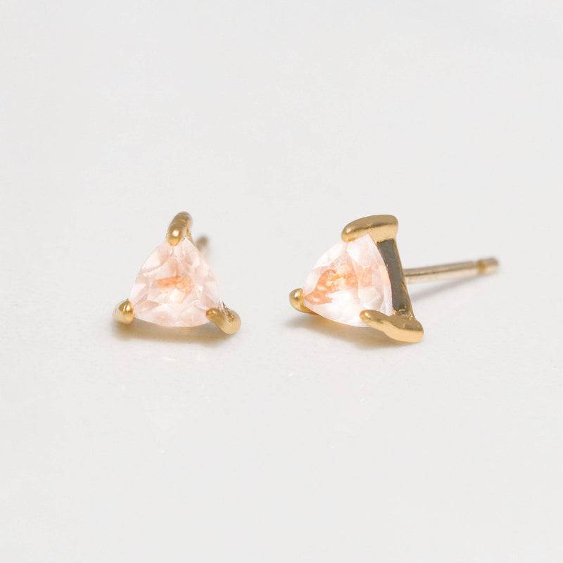 ROSE QUARTZ MINI ENERGY GEM STUD EARRINGS