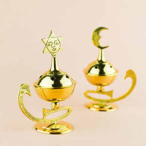 CELESTIAL BRASS INCENSE BURNER