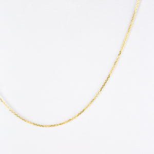 14K SOLID GOLD ADJUSTABLE CABLE CHAIN