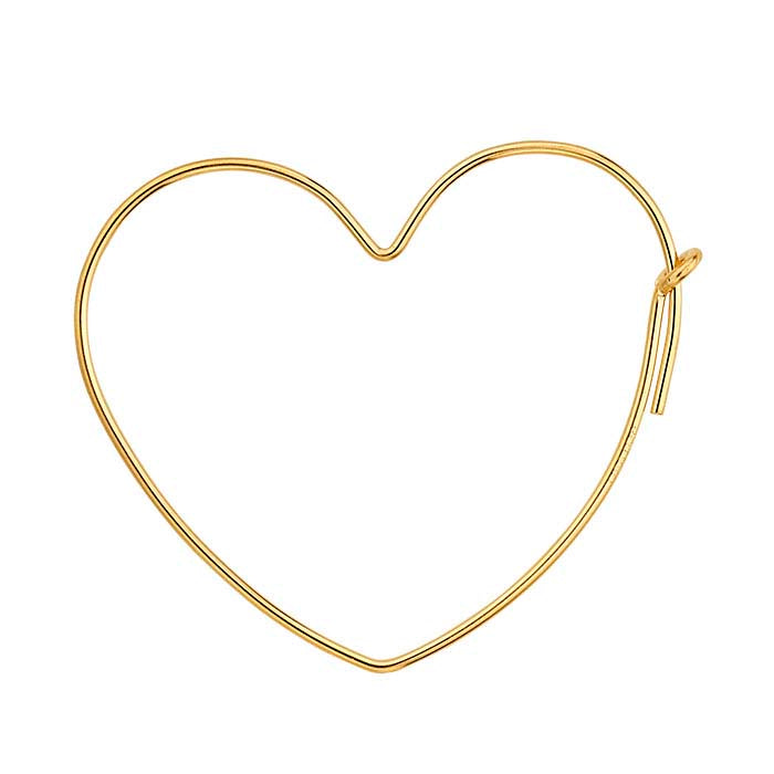 SMALL GOLD HEART HOOPS