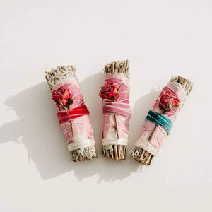 BLUE SAGE + ROSES SMOKE STICK
