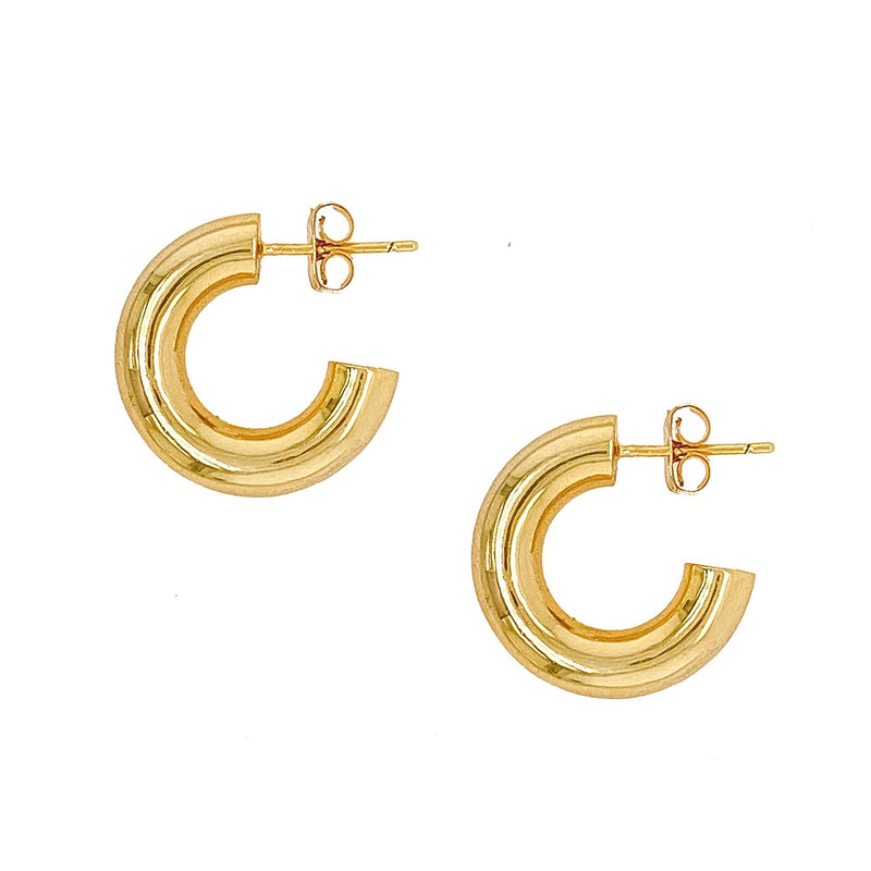 MINI GOLD TUBE HOOP EARRINGS