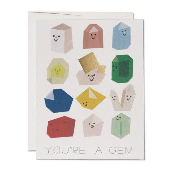 """YOU'RE A GEM"" GREETING CARD"