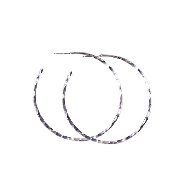 HAMMERED HOOP - STERLING