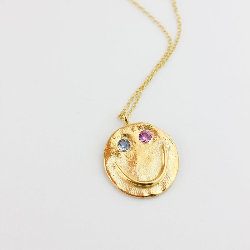 GOLD GOOD FRIEND SMILE PENDANT