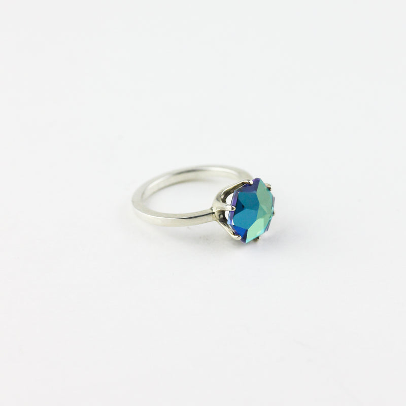 HEXAGON GEMCUT RING