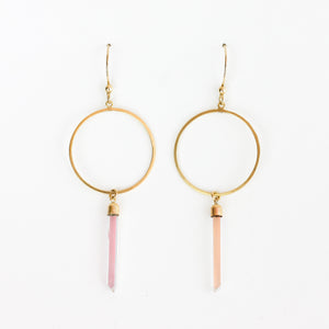 GOLD TWINKLE FRONT FACING HOOPS