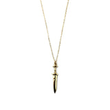 DAGGER CHARM NECKLACE in Gold