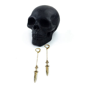 GOLD DAGGER CHAIN EARRINGS