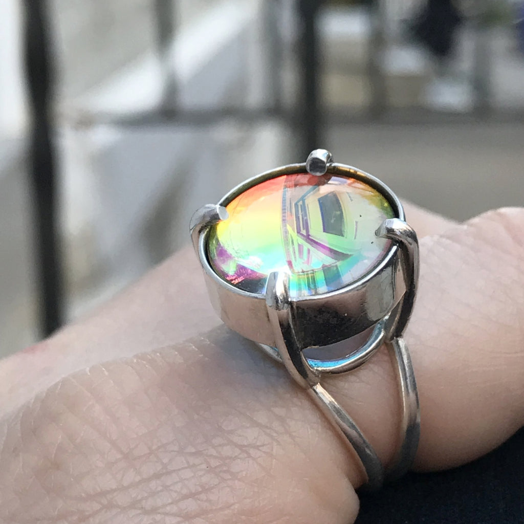 PURPLE MULTIVERSE GLASS RING