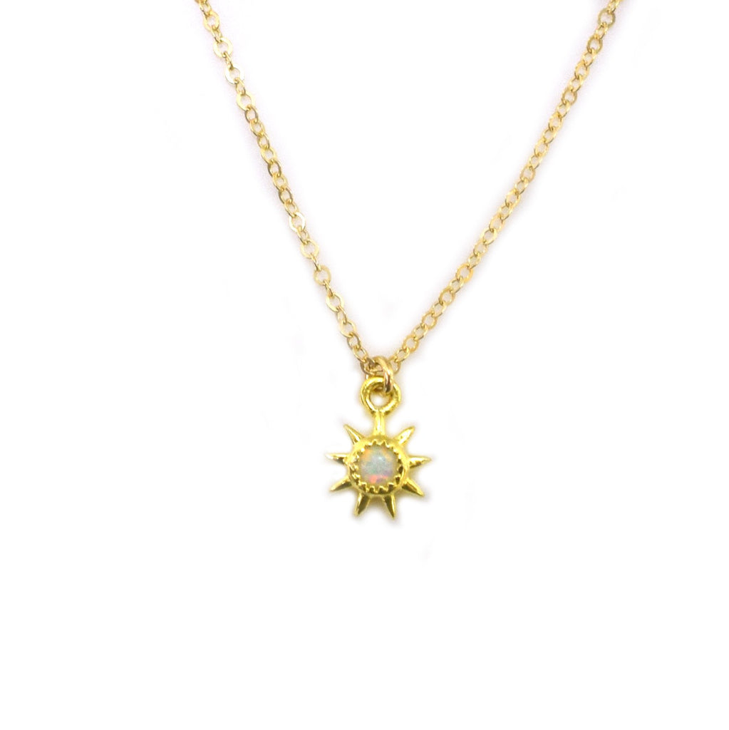 DAINTY OPAL STARBURST NECKLACE