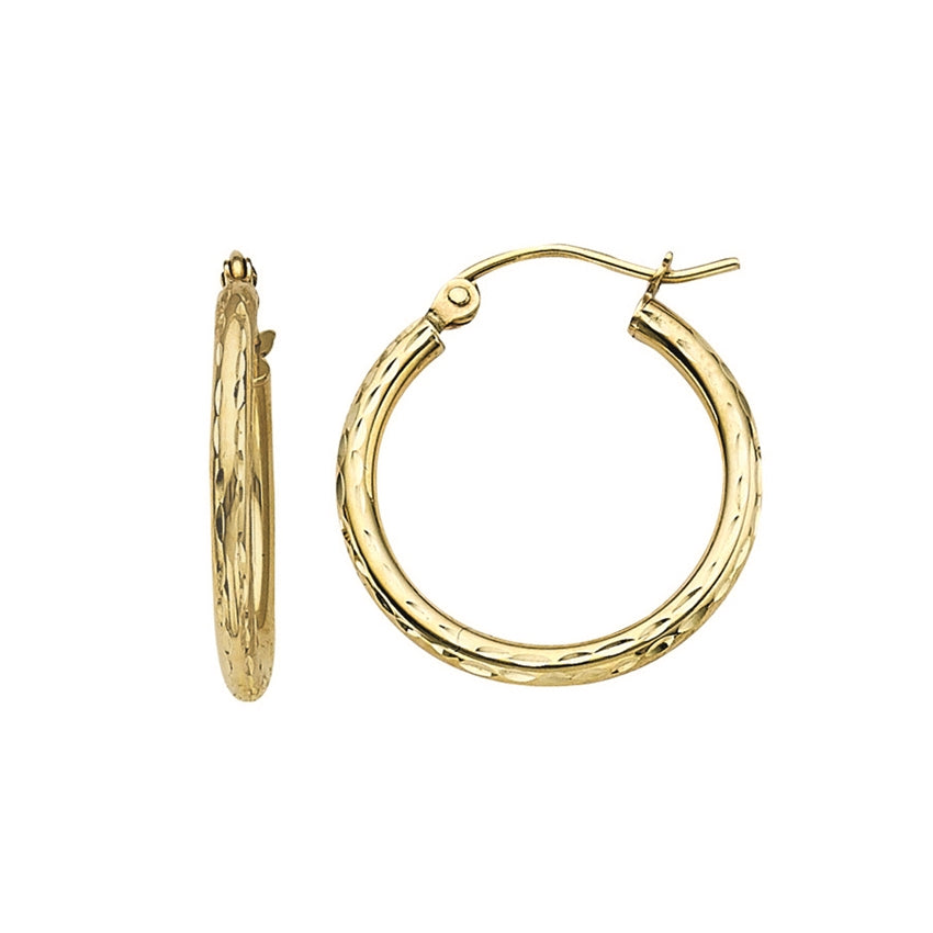 YELLOW GOLD HOOPS | 10K