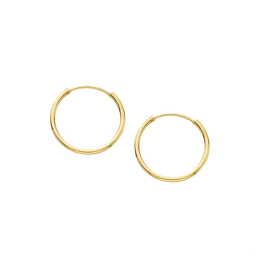YELLOW GOLD ENDLESS HOOP | 14k