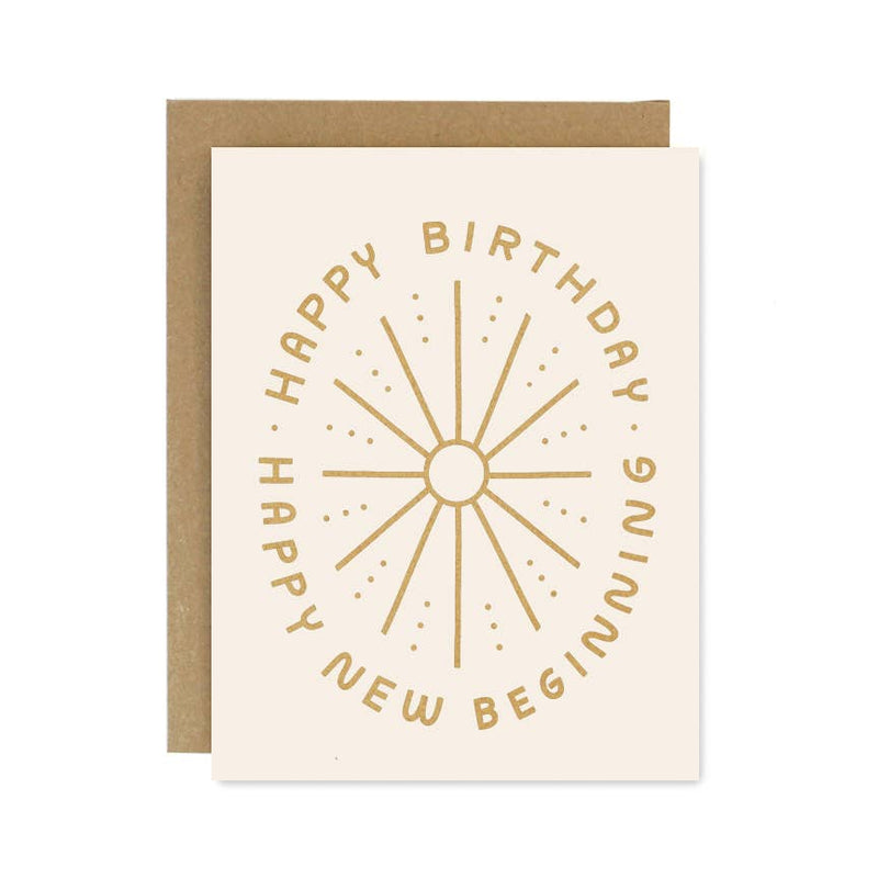 NEW BEGINNINGS BIRTHDAY CARD