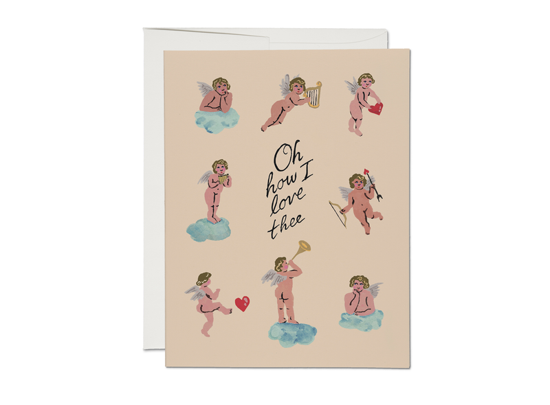 Red Cap Cards - Little Cupids