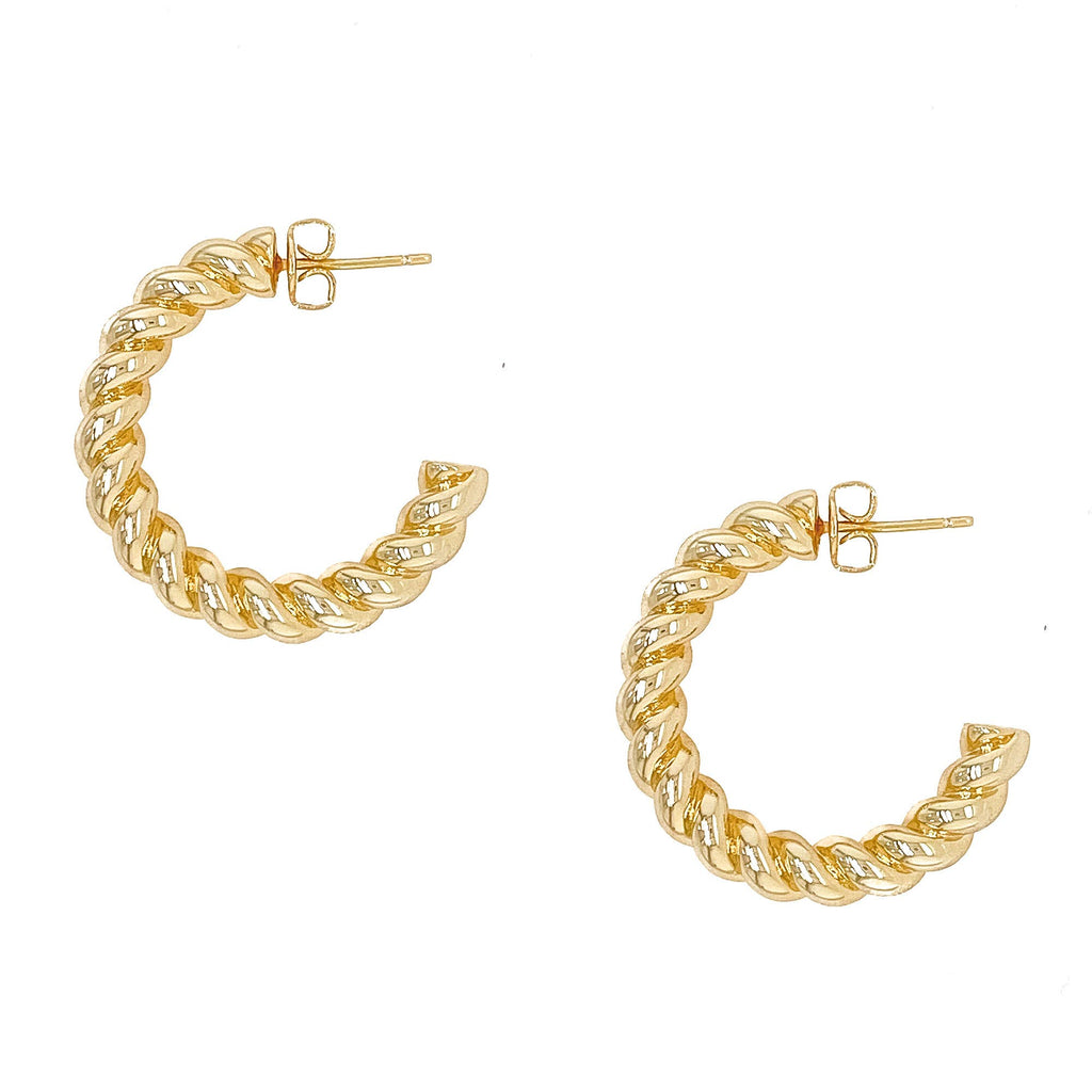 GOLD ROPE HOOPS