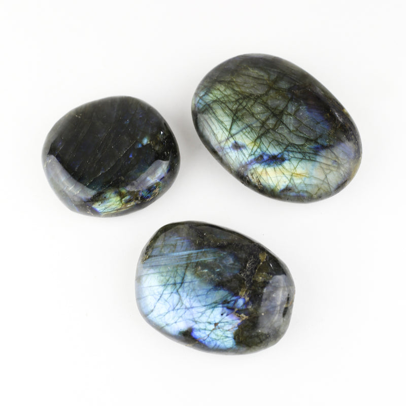 LABRADORITE - LARGE PALM STONE / SLAB