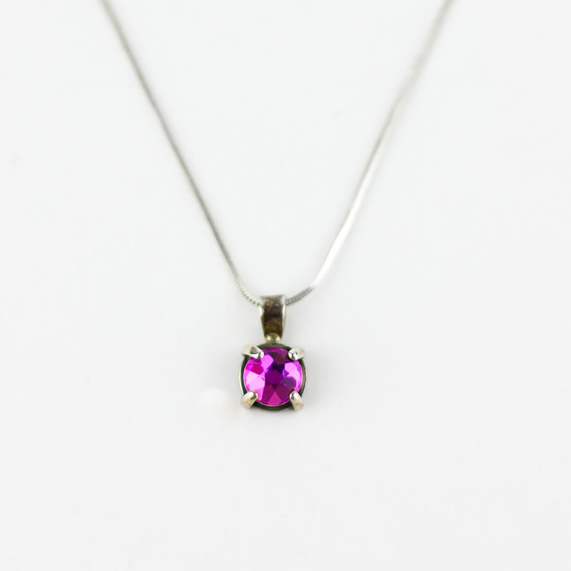 PINK GEMCUT NECKLACE
