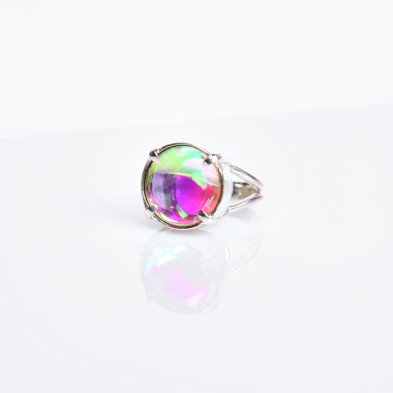 IDOL LIGHT PURPLE MULTIVERSE GLASS RING