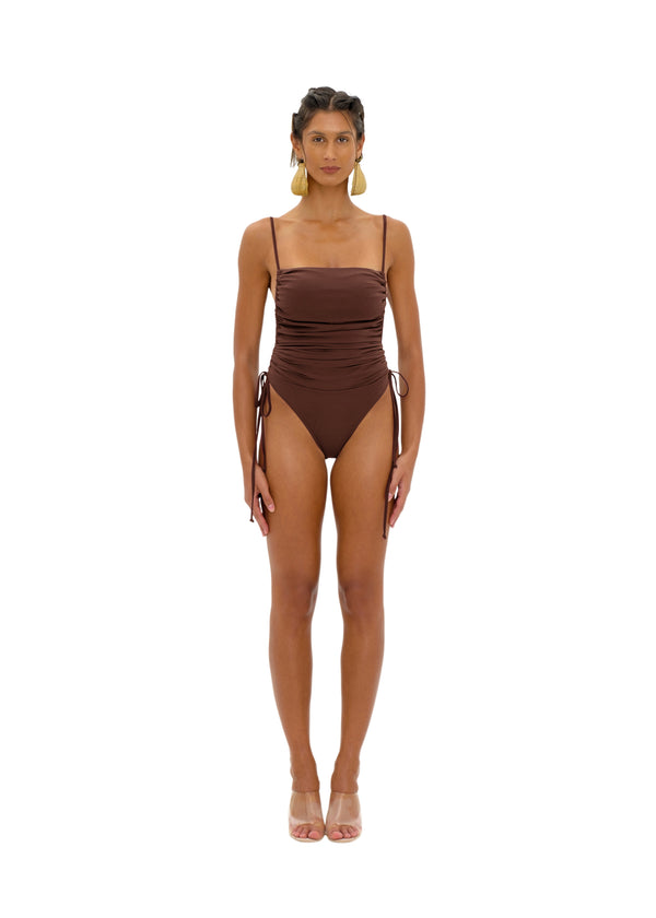 ADAN COCOA ONE PIECE SWIMSUIT