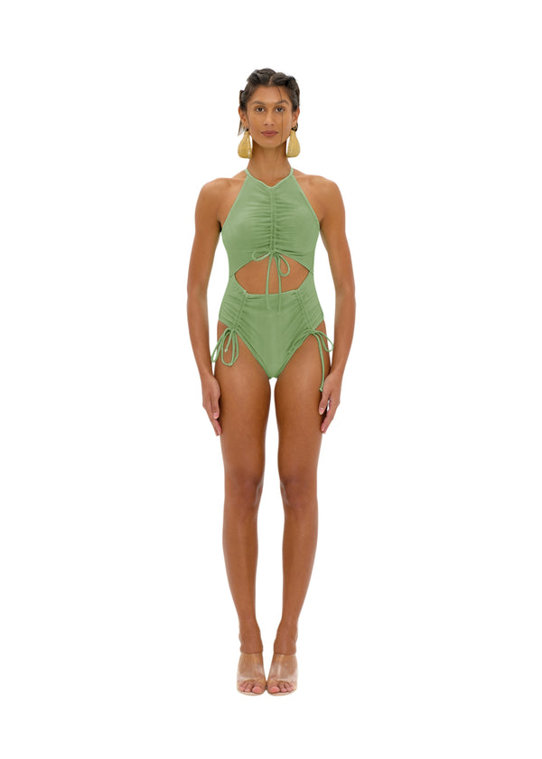 DAHO GREEN ONE PIECE SWIMSUIT