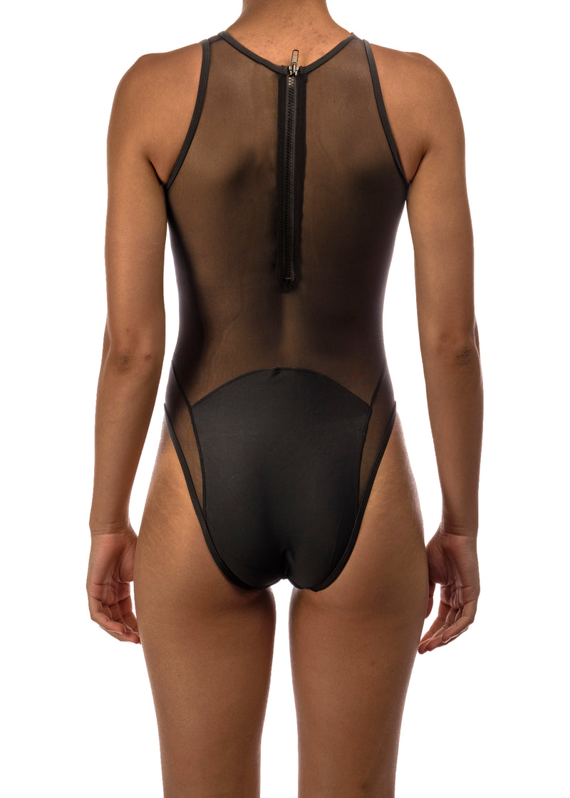 KHARR ONE PIECE SWIMSUIT- BLACK