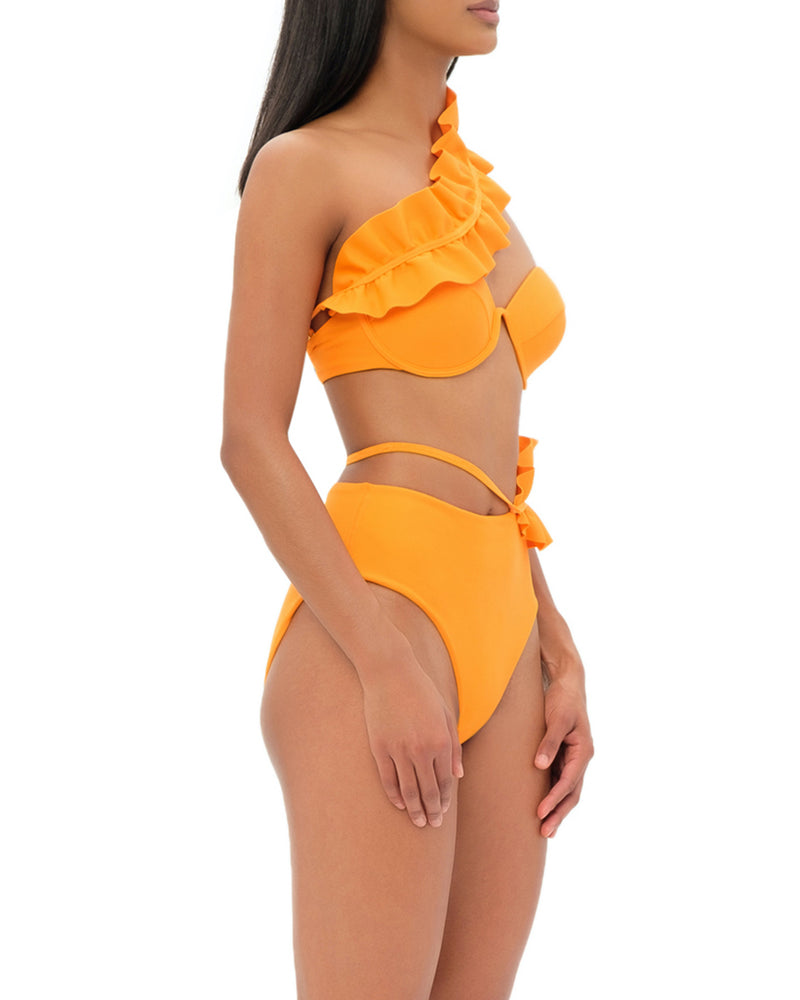 KARI Orange High Waist Bikini