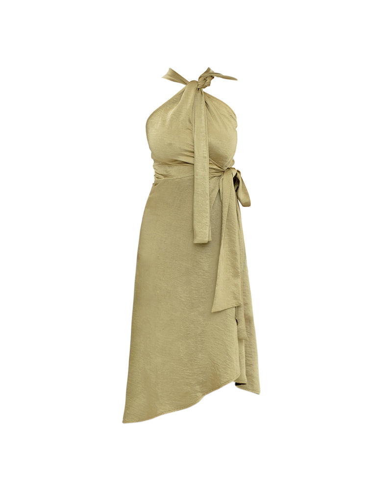 OLEN WRAP DRESS